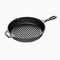 Lodge 10.25 inch seasoned cast iron grill pan