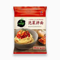 Bibigo korean noodle kimchi flavor 233g
