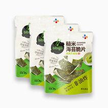 Bibigo seaweed crisps wasabi 20g %28pack of 3%29