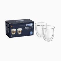 Delonghi double wall cappuccino glass %28set of 2%29