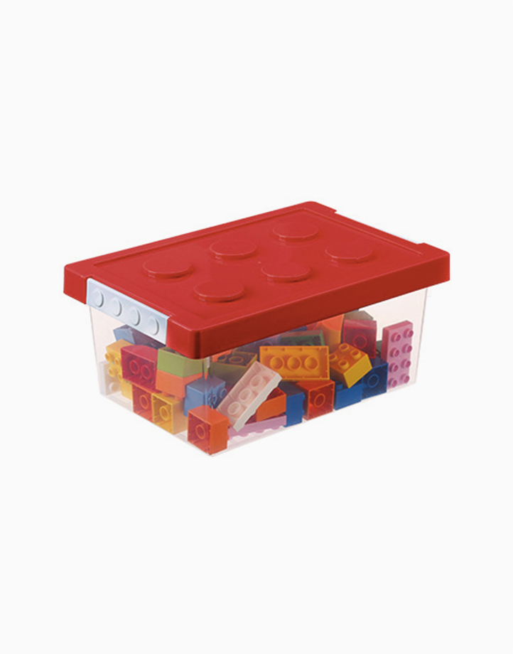 Shimoyama Small Lego Toy Storage Box by Simply Modular | Red