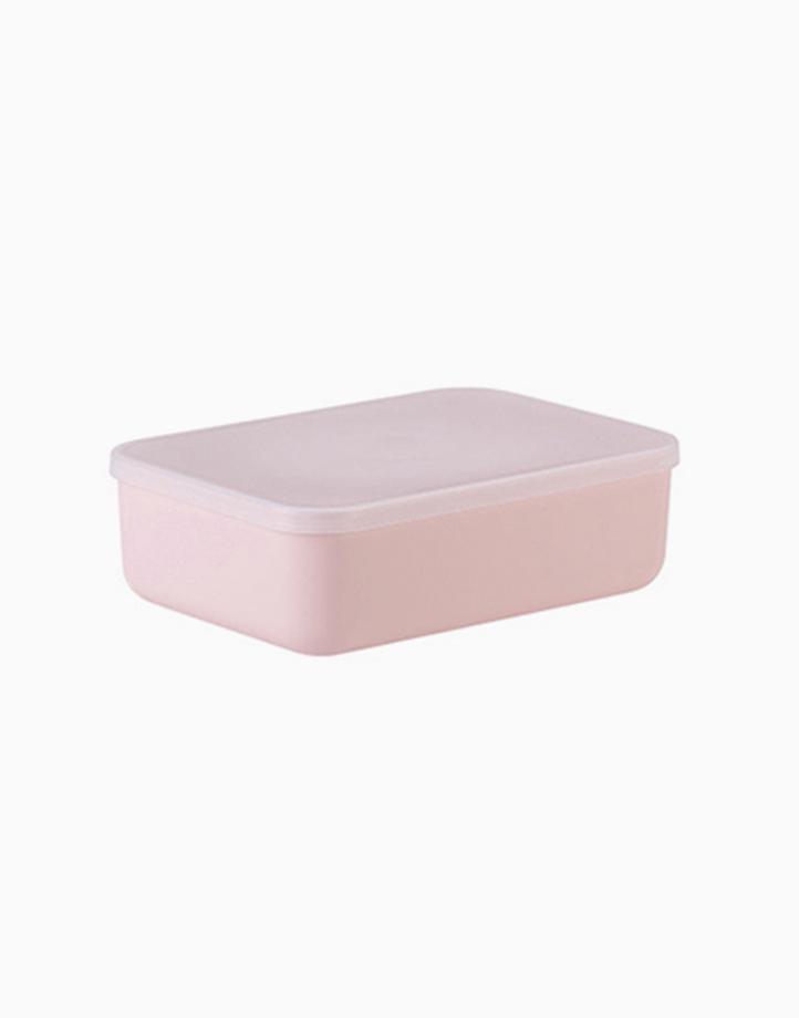 Shimoyama Small Pink Flat Storage Box by Simply Modular