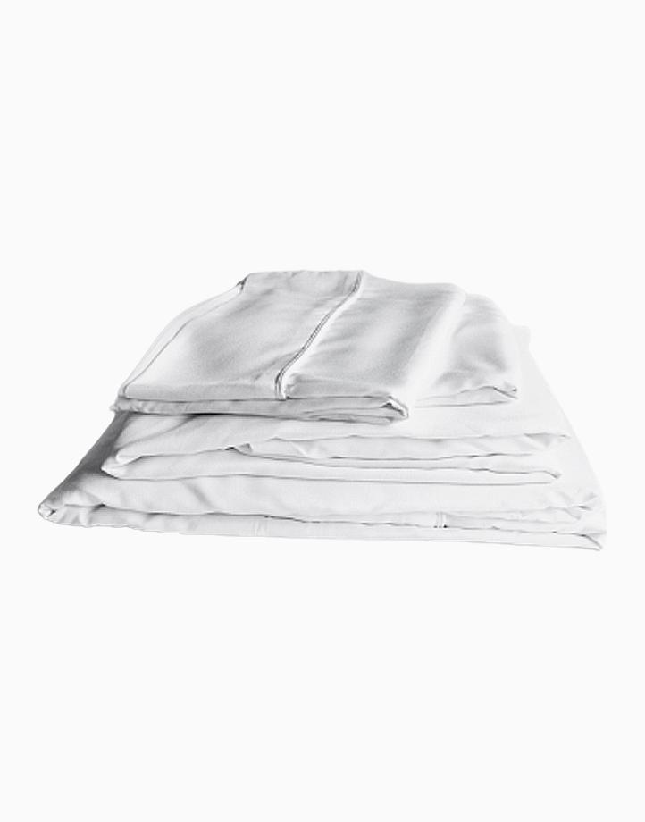 Hardcore Bamboo Bedding Bundle - 4in1 Full/Double Set by Mysa | White