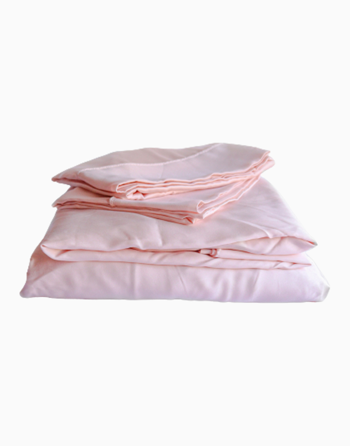 Hardcore Bamboo Bedding Bundle - 4in1 Full/Double Set by Mysa | Ice Pink