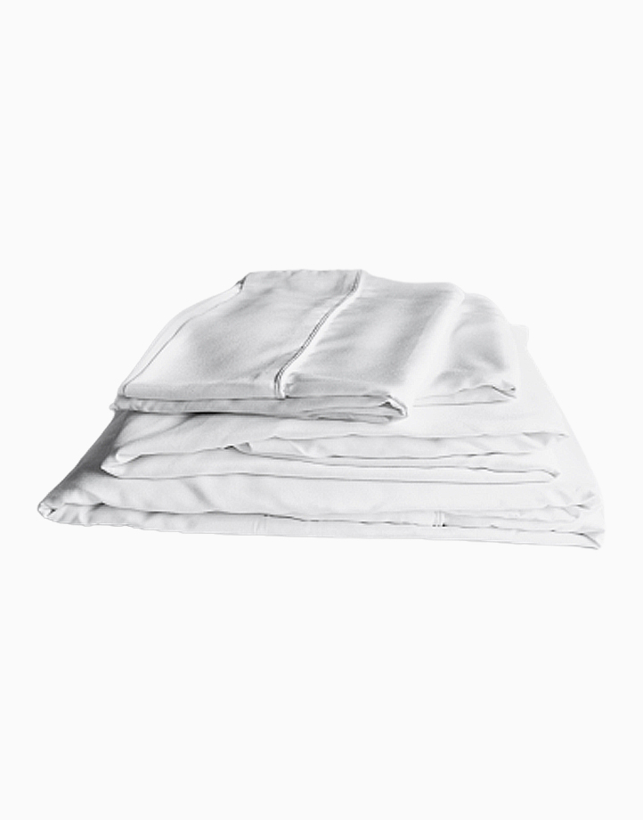 Hardcore Bamboo Bedding Bundle - 4in1 Queen Set by Mysa | White