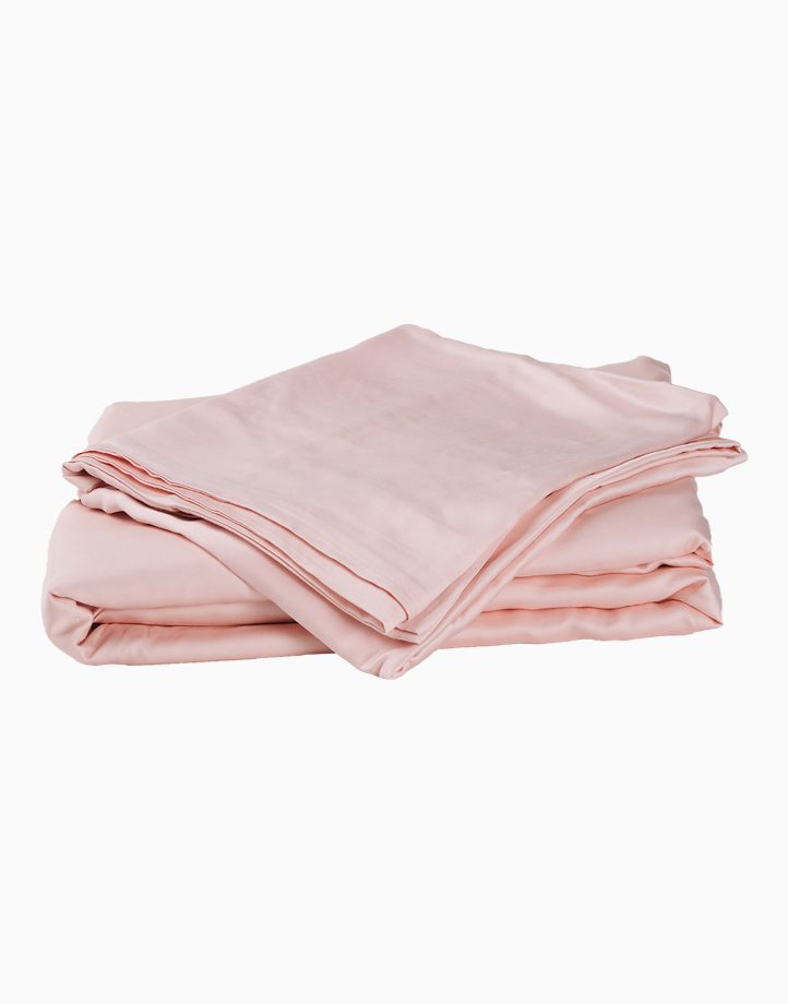 Classic Bamboo Bedding Set - 3in1 Queen Set by Mysa   Ice Pink