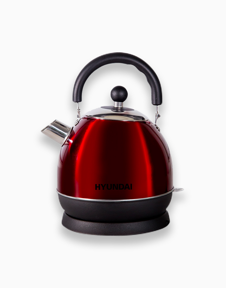 Hyundai 1.8L Capacity Stainless Steel Body Electric Kettle by Hyundai Home Appliances | Red