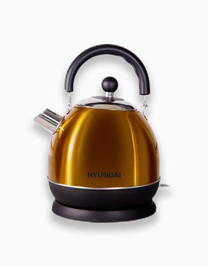 Hyundai 1.8L Capacity Stainless Steel Body Electric Kettle by Hyundai Home Appliances | Gold