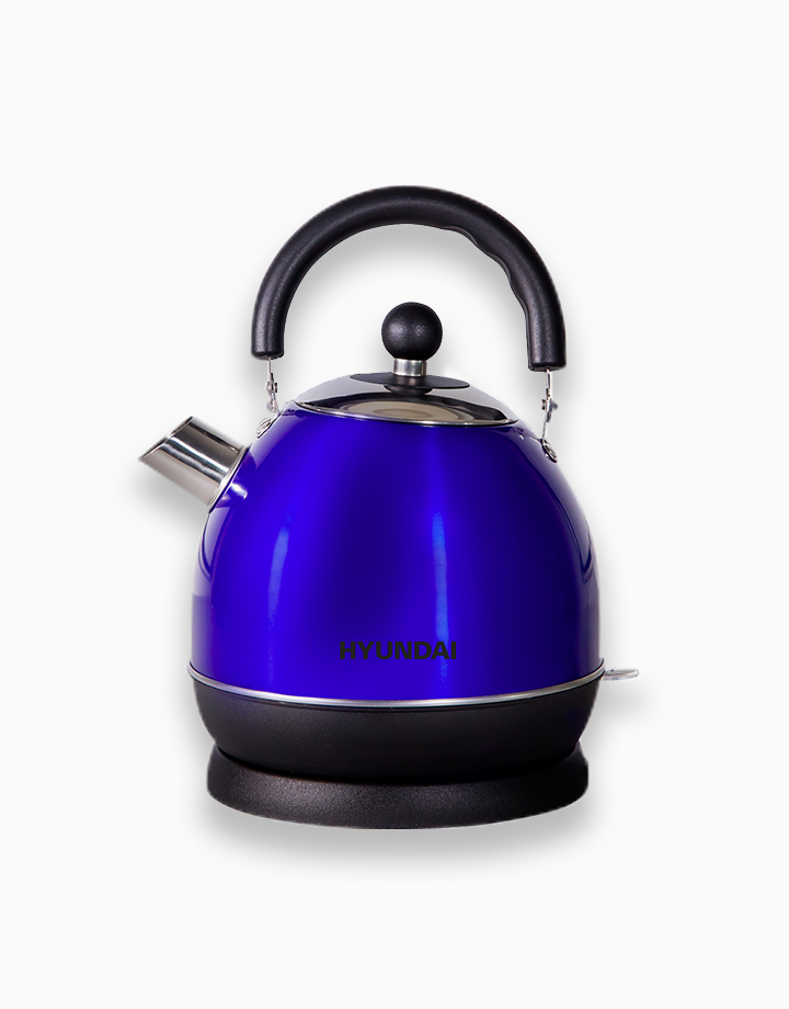 Hyundai 1.8L Capacity Stainless Steel Body Electric Kettle by Hyundai Home Appliances | Blue