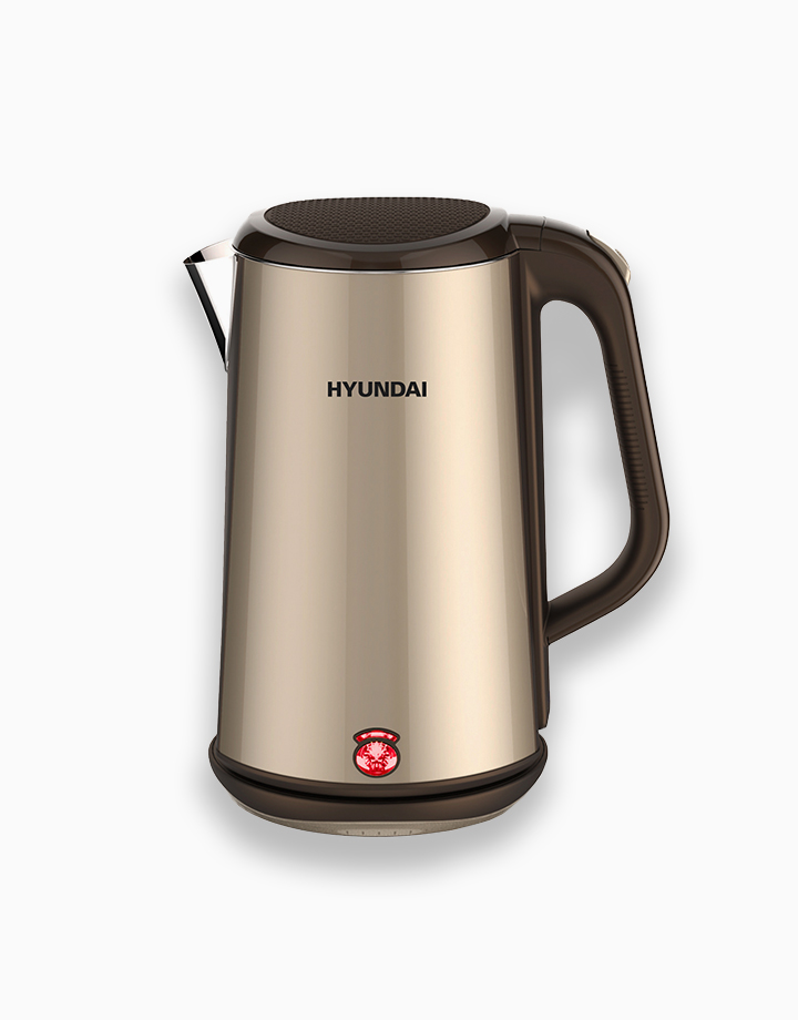 Hyundai 1.8L Capacity Stainless Steel Body Electric Kettle by Hyundai Home Appliances   Copper