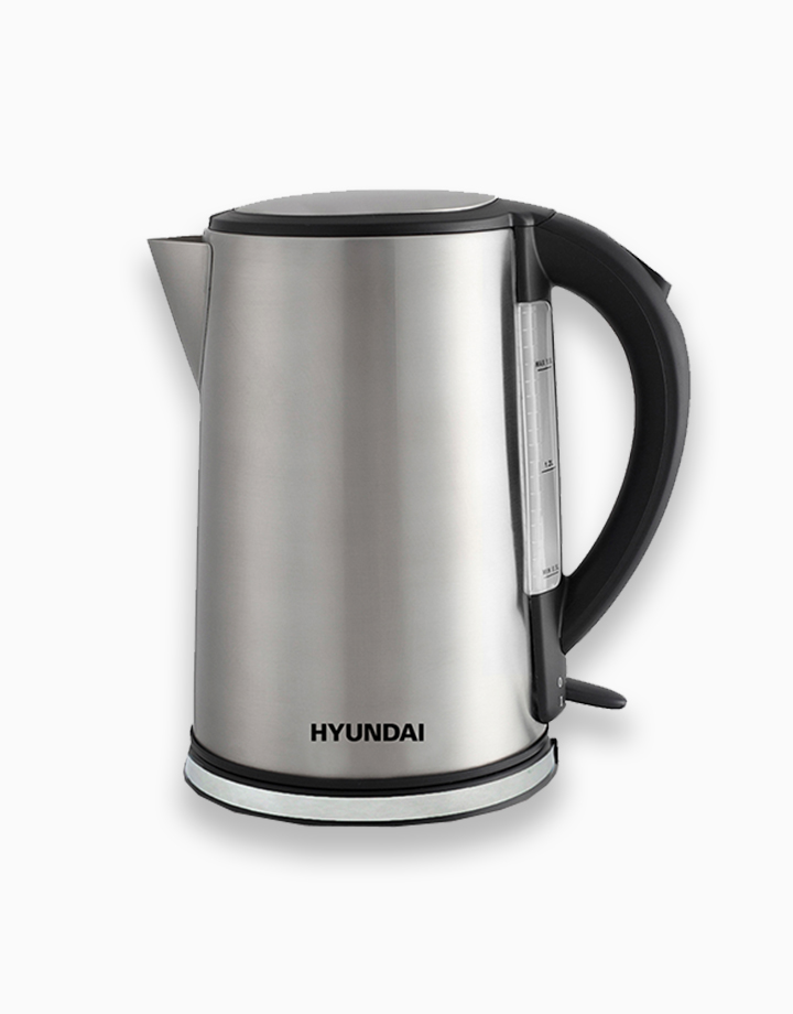 Hyundai 1.8L Capacity Brushed Stainless Steel Body Electric Jug by Hyundai Home Appliances   Silver