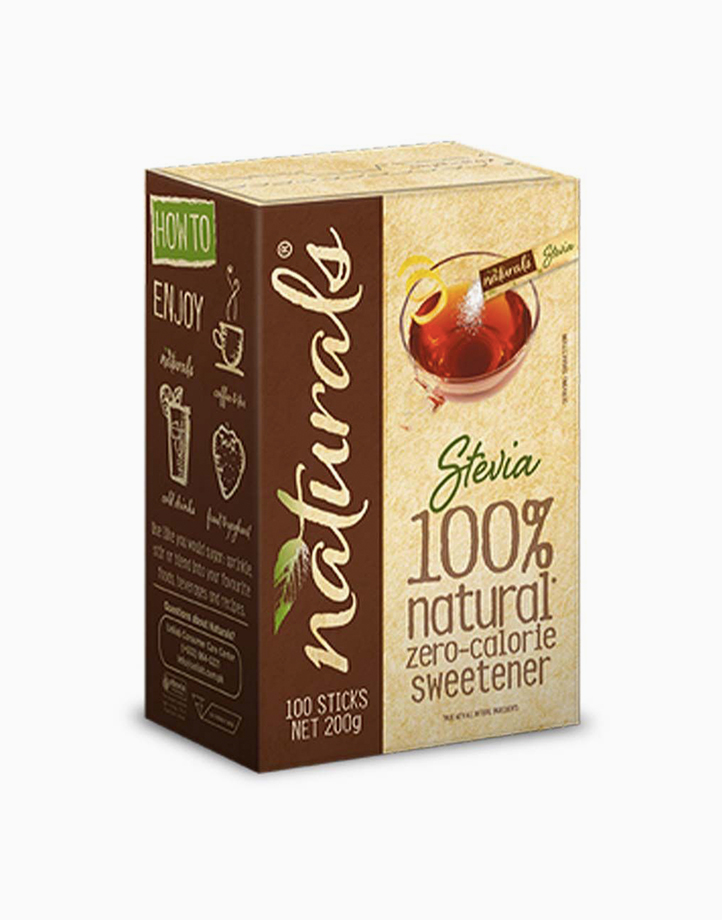 Naturals Stevia Zero Calorie Sweetener (100 Sticks with Free Round Glass) by Equal Philippines