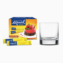 Equal gold zero calorie sweetener 50 sticks w free round glass 1