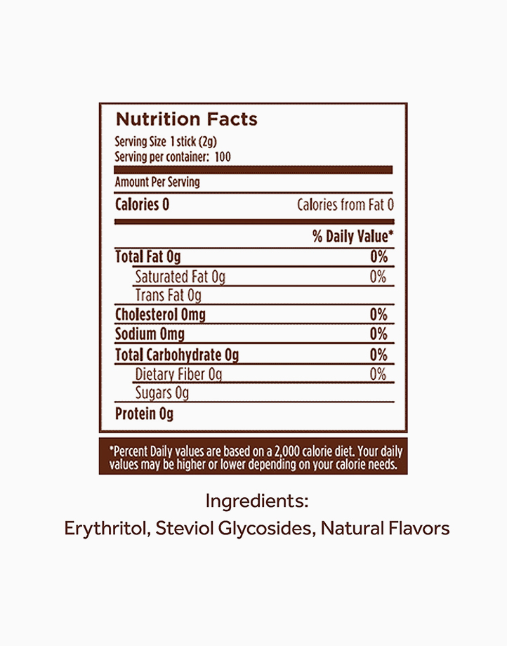 Naturals Stevia Zero Calorie Sweetener (100 Sticks with Free Square Glass) by Equal Philippines