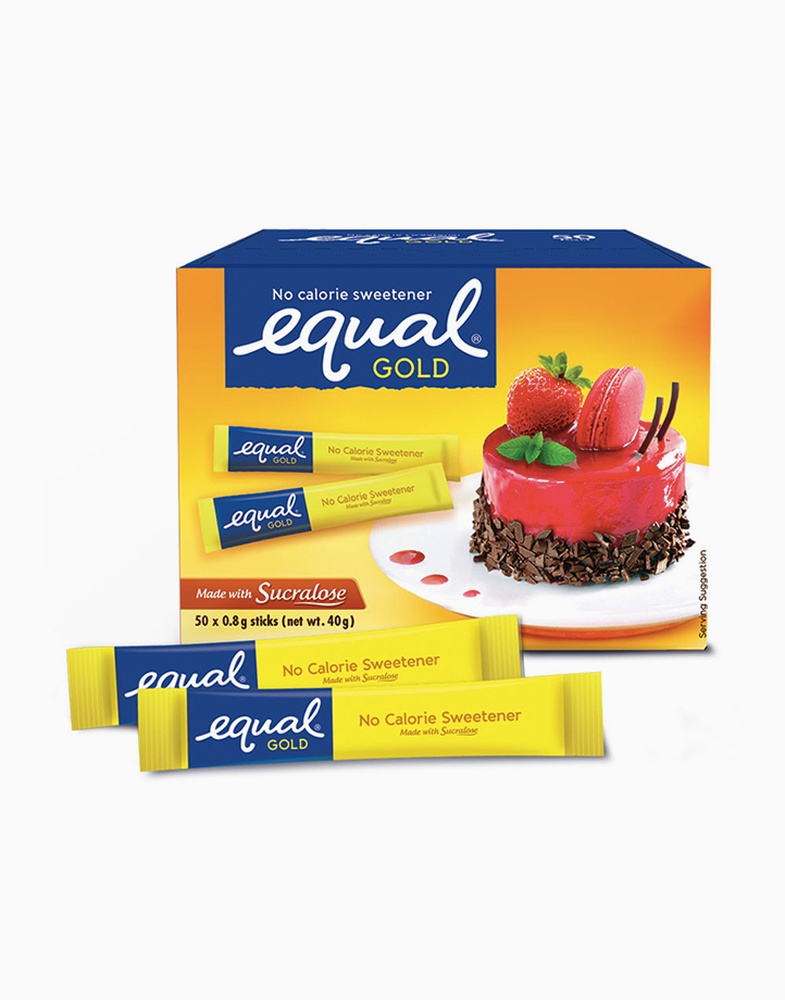 Equal Gold Zero Calorie Sweetener (50 Sticks with Free Square Glass) by Equal Philippines