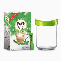 Pure via stevia 1 box x 100 sticks w free luminarc vacuum jar 1