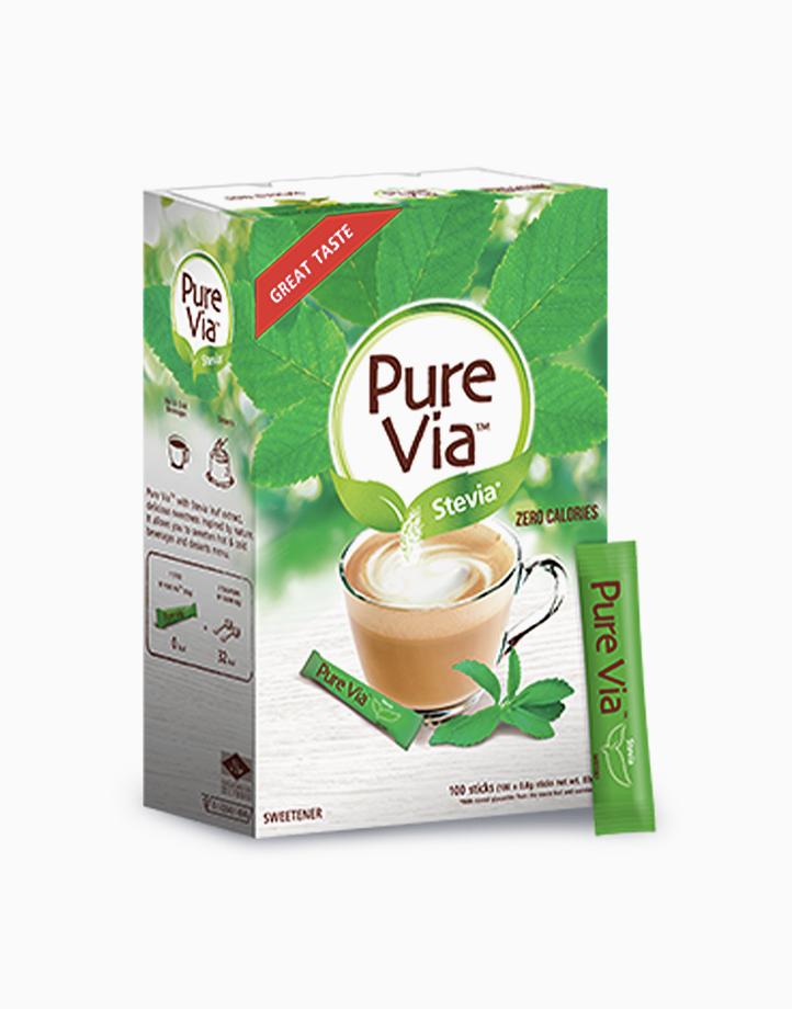 Pure Via Stevia - 1 Box x 100 Sticks with Free Luminarc Vacuum Jar by Equal Philippines