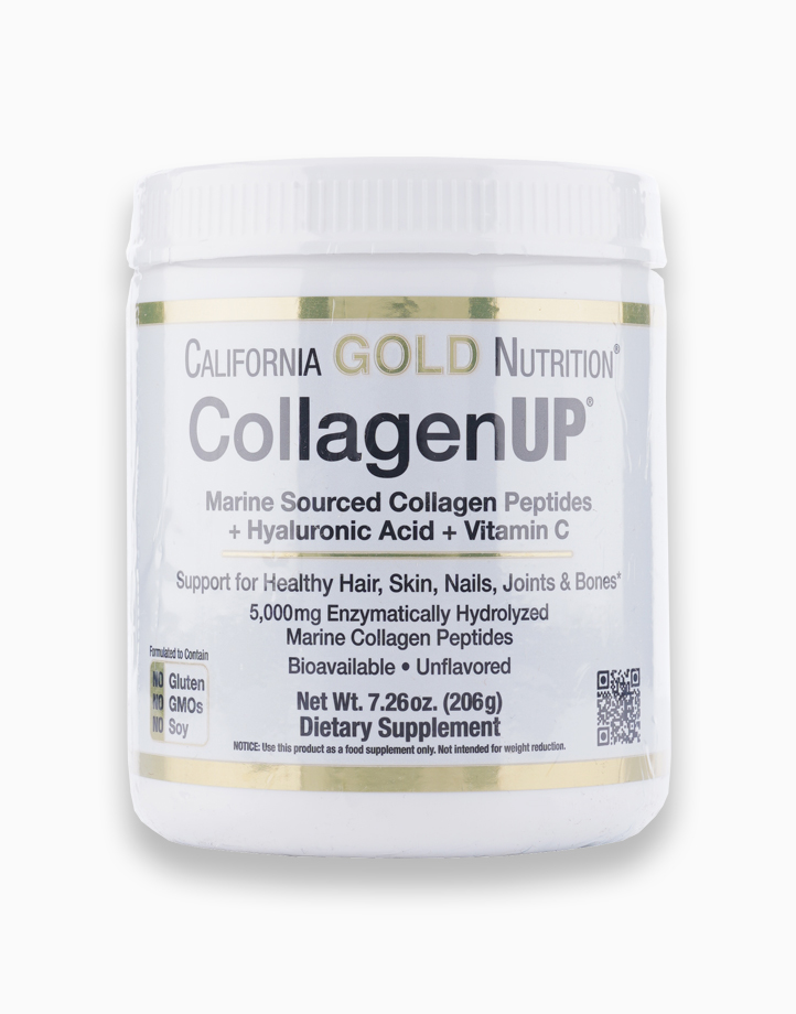 CollagenUP, Marine Hydrolyzed Collagen + Hyaluronic Acid + Vitamin C, Unflavored, 7.26 oz (206g) by California Gold Nutrition