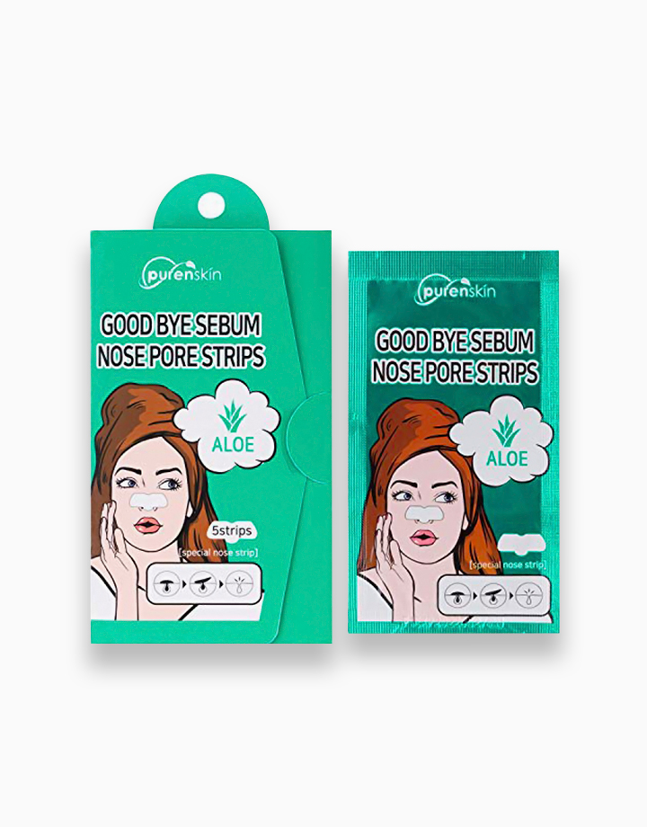 Good Bye Sebum Aloe Nose Pore Strips Pack by Purenskin Korea