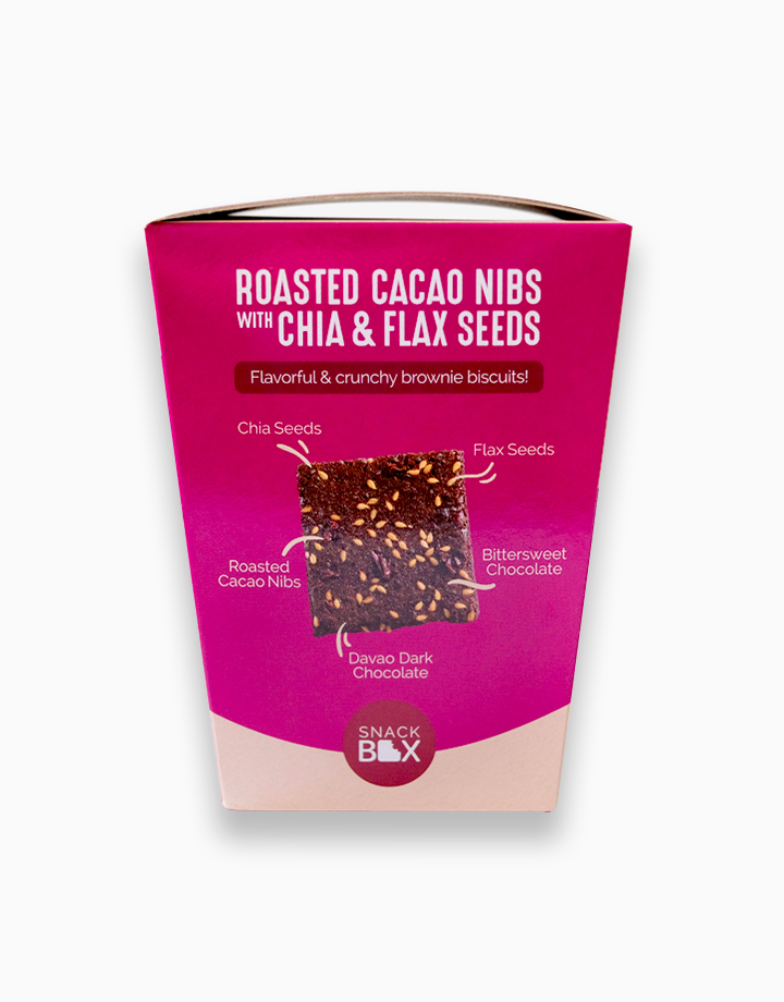 Roasted Cacao Nibs with Chia and Flaxseeds Brownie Crunch (Bundle of 6) by Snack Box
