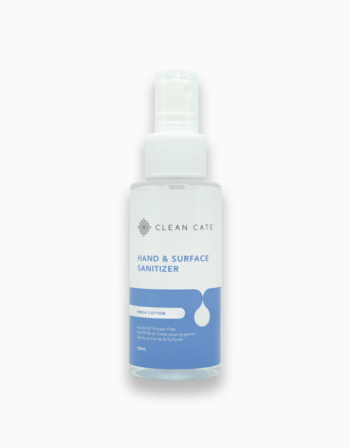 Hand and Surface Sanitizer - Fresh Cotton (100ml) by Clean Cate