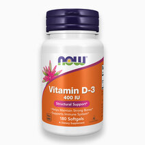 Vitamin D-3 (400 IU Softgel) by NOW