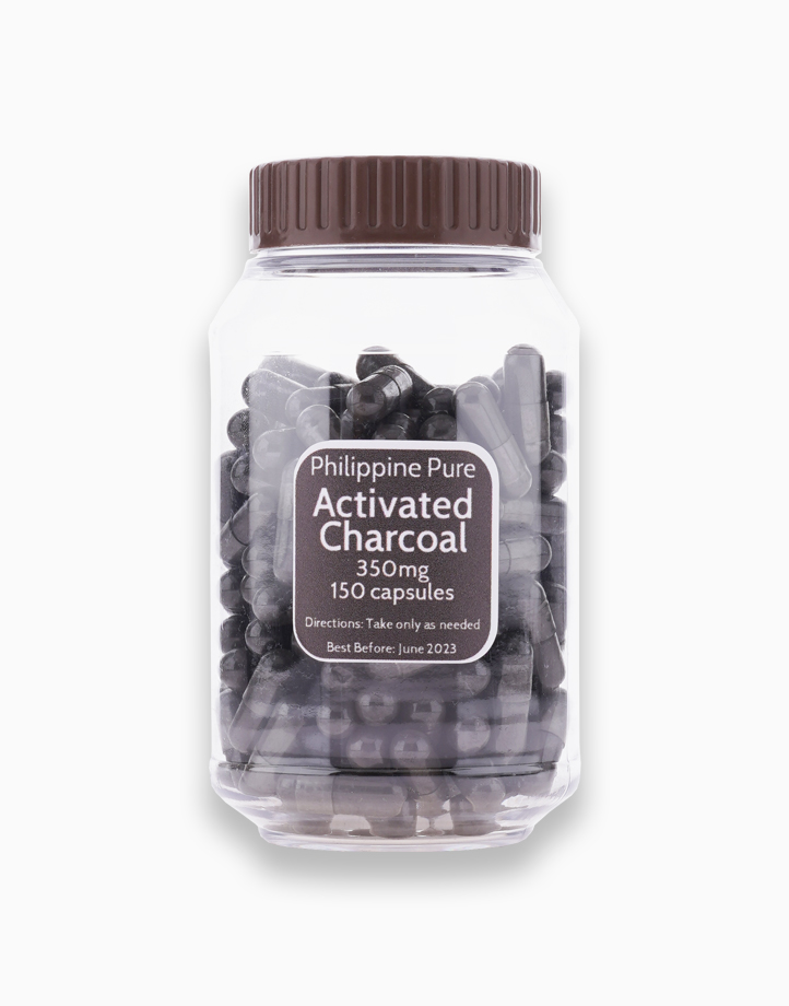 Activated Charcoal (150 Capsules) by Philippine Pure