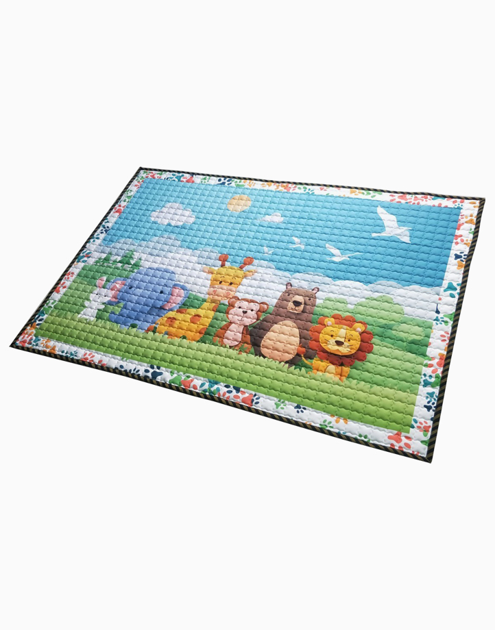 Quilted Non Skid Playmat by Lulubabyph | Animal Friends