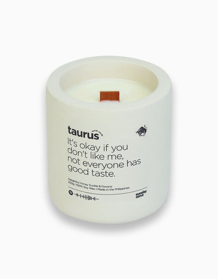 Taurus Earth-Tone Series Soy Candle (250g) by Sunday Zen