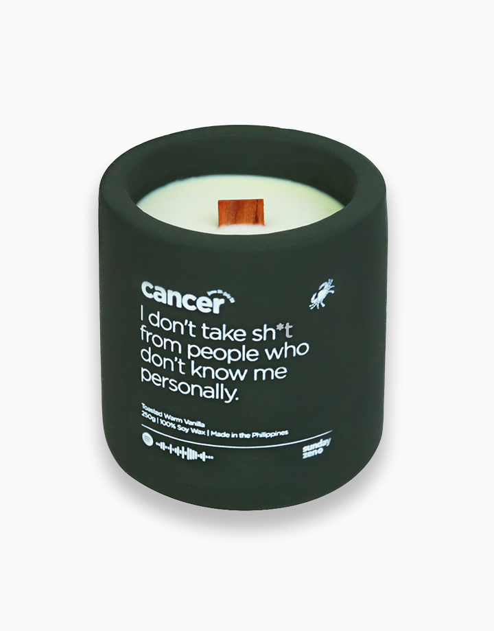 Cancer Earth-Tone Series Soy Candle (250g) by Sunday Zen