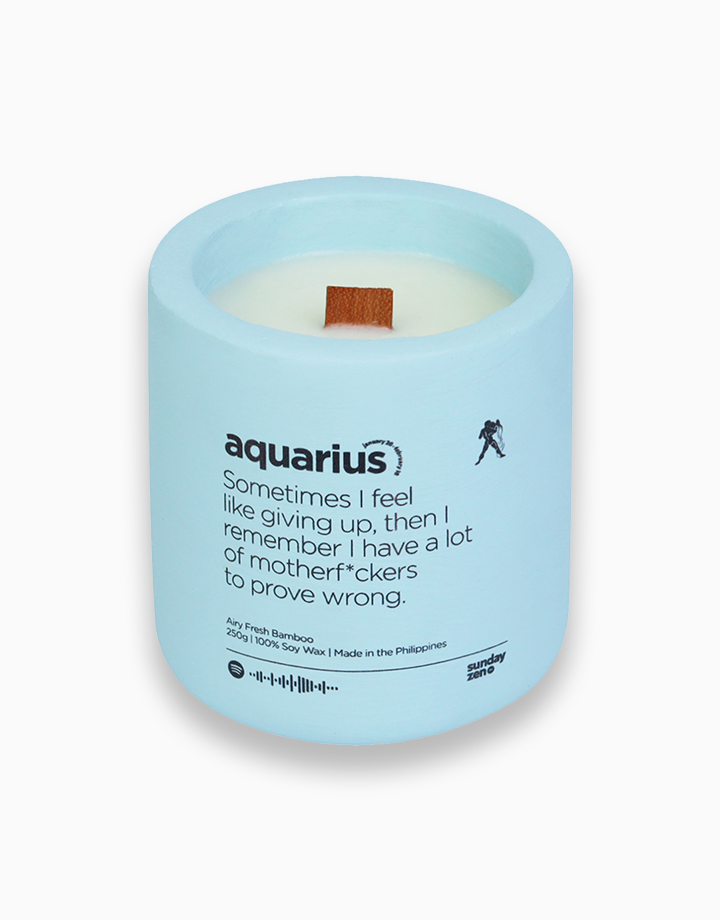 Aquarius Earth-Tone Series Soy Candle (250g) by Sunday Zen