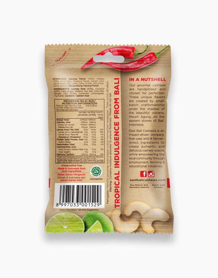 Chili Lime Cashew Nuts (35g) by East Bali Cashews
