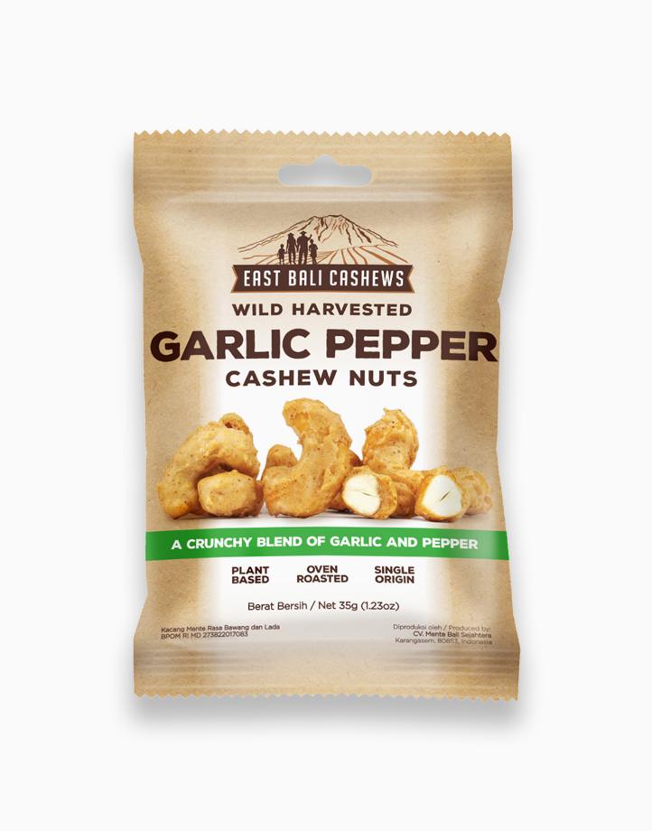 Garlic Pepper Cashew Nuts (35g) by East Bali Cashews
