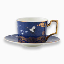 Crane Cup & Saucer by KIMI Home and Lifestyle