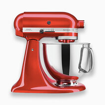 Artisan Mixer 220V (5Qt) with Flat Beater, Dough Hook, and 6-Wire Whip - Candy Apple by KitchenAid