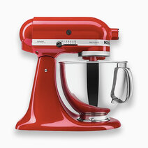 Artisan Mixer 220V (5Qt) with Flat Beater, Dough Hook, and 6-Wire Whip - Empire Red by KitchenAid