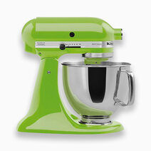 Artisan Mixer 220V (5Qt) with Flat Beater, Dough Hook, and 6-Wire Whip - Green Apple by KitchenAid