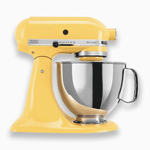 Artisan Mixer 220V (5Qt) with Flat Beater, Dough Hook, and 6-Wire Whip - Yellow by KitchenAid