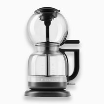 Kitchenaid 8 cup siphon coffee brewer with cleaning brush   coffee scoop