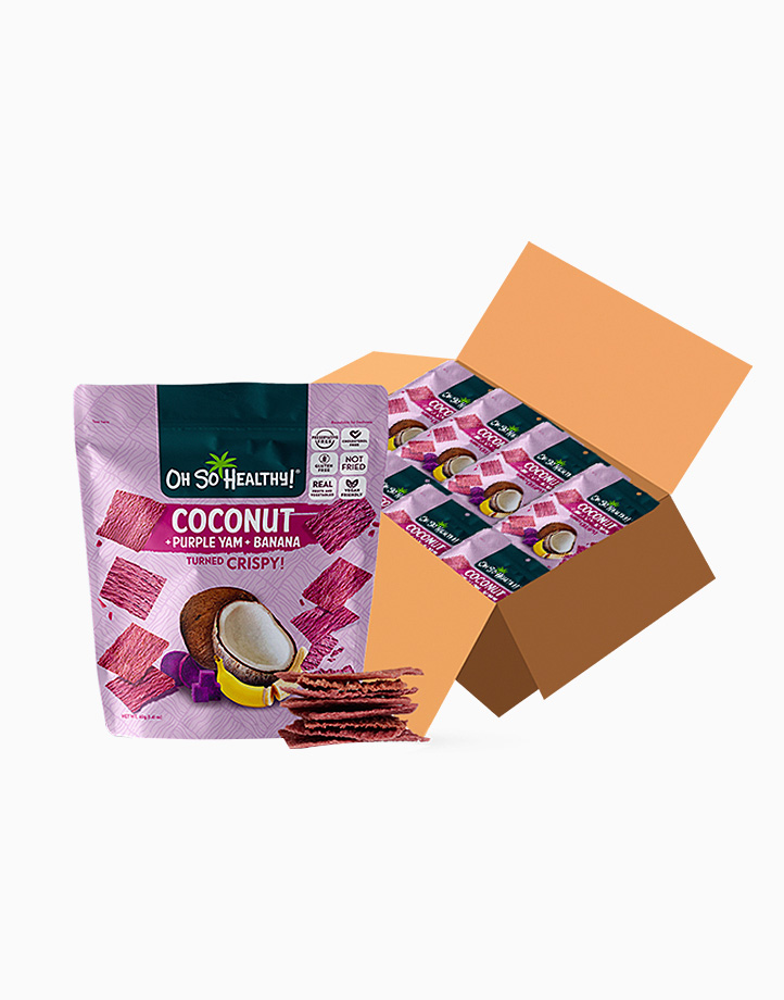 Coconut Purple Yam Banana 40g x 24pcs (Buy 1, Take 1) (Earliest Expiry: April 30, 2021) by Oh So Healthy!