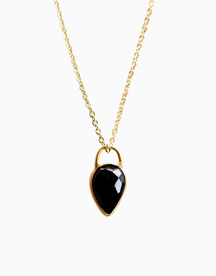 Achiever Necklace with 12mm Black Onyx Teardrop Pendant (unisex) ACH-AU2 by The Calm Chakra