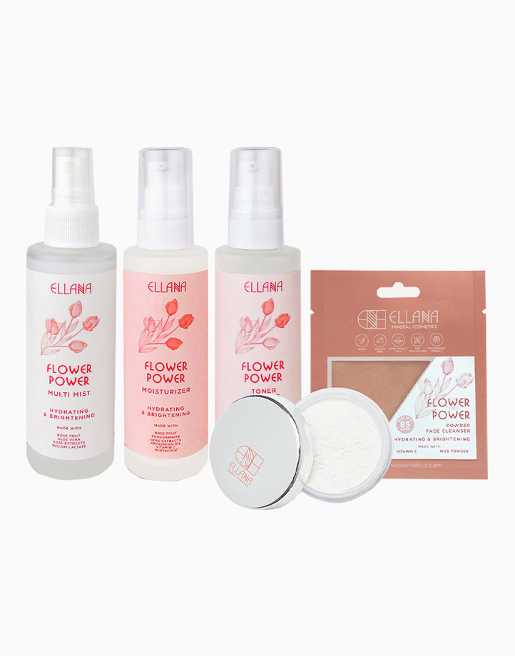 Flower Power Skin Care Set   Hydrates and Brightens   For Dry to Delicate Skin by Ellana Mineral Cosmetics