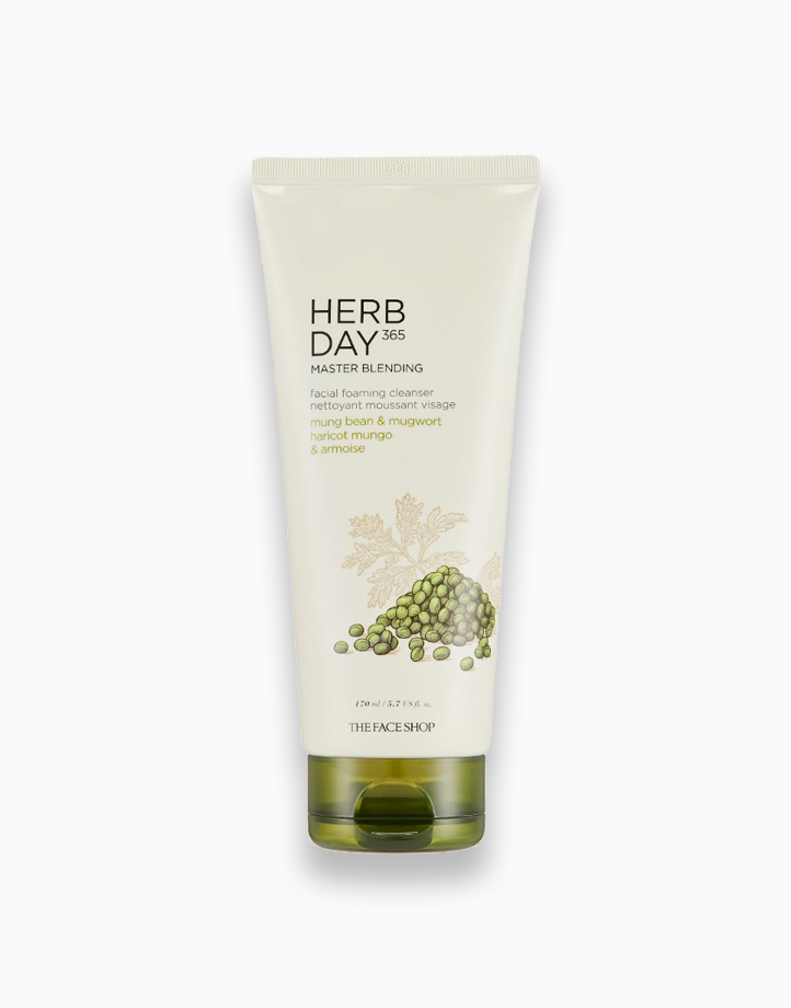 Herb Day 365 Master Blending Facial Foaming Cleanser Mungbean & Mugwort by The Face Shop