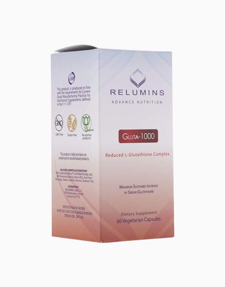 Relumins Advance Nutrition Gluta 1000 - Reduced L-Glutathione Complex (60 Capsules) by Relumins
