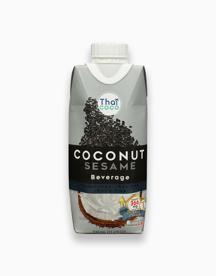 Coconut Beverage - Sesame Flavor (330ml) by Thai Coco