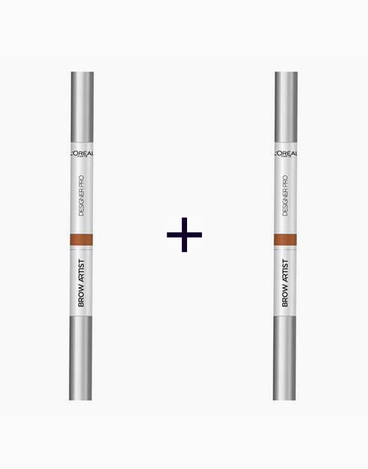 Brow Artist Designer Pro 3-in-1 Brow Liner + Powder + Brush (Buy 1, Take 1) by L'Oréal Paris   03 Burgundy Brown