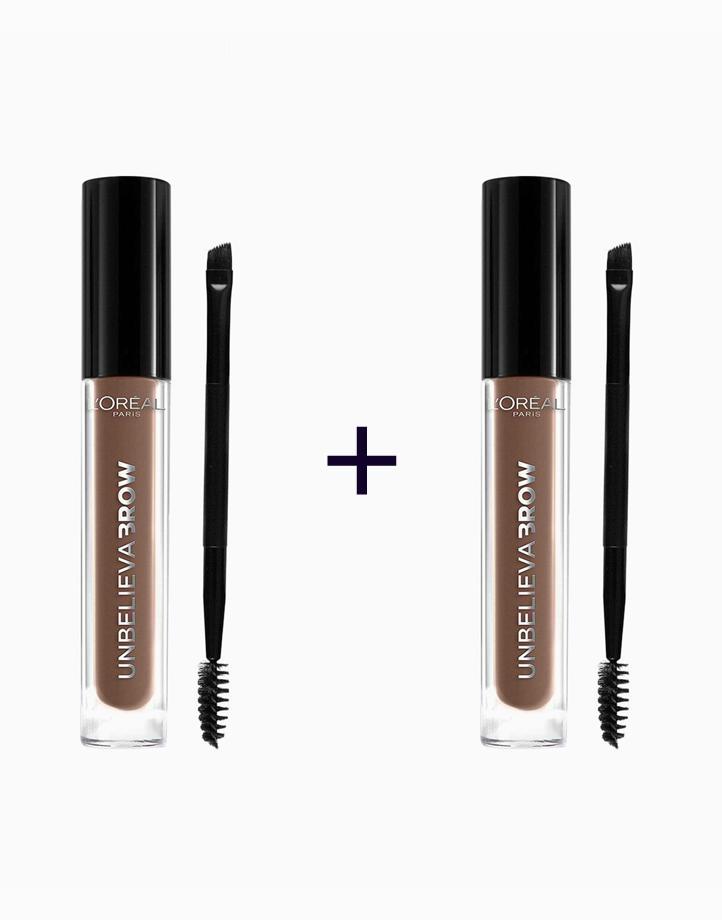 Unbelievabrow Brow Gel (Buy 1, Take 1) by L'Oréal Paris   114 Light Brown