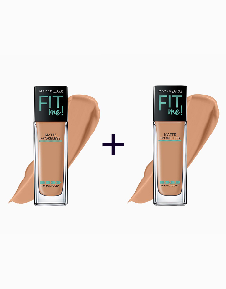 Fit Me Matte Poreless Liquid Foundation (Buy 1, Take 1) by Maybelline | 330 Toffee