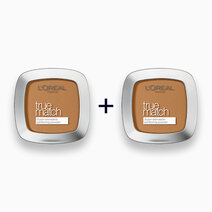 B1t1 l'oreal paris true match skin caring skin matching pressed powder 7d golden amber