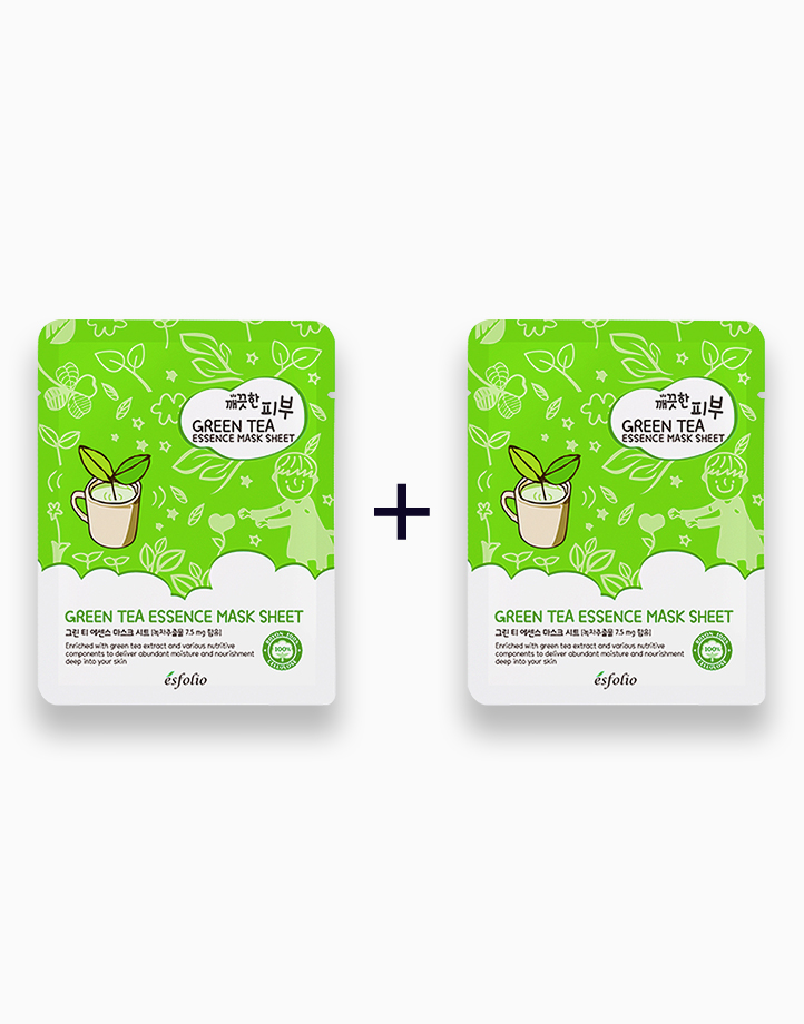Pure Skin Green Tea Essence Mask Sheet (Buy 1, Take 1) by Esfolio